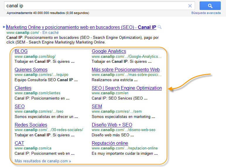site-links-serps